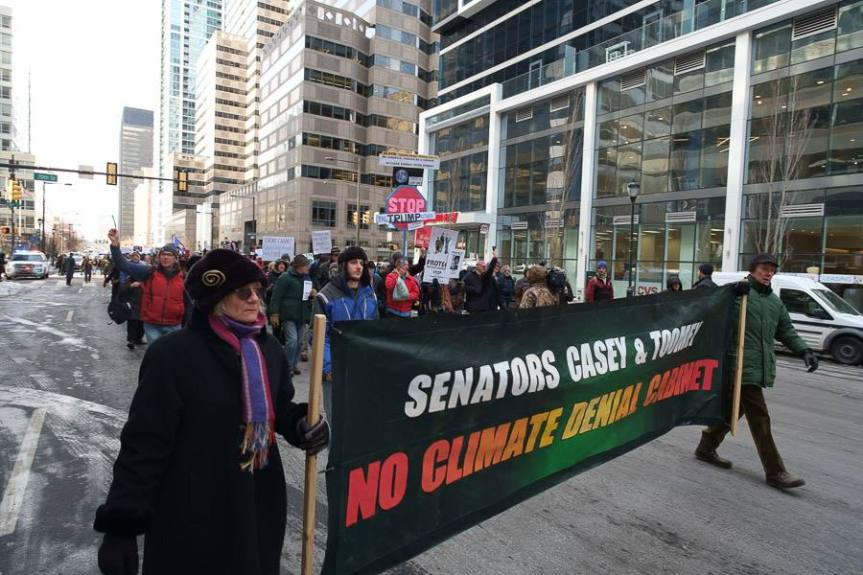 Senators Casey & Toomey: No Climate Deniers in the Cabinet