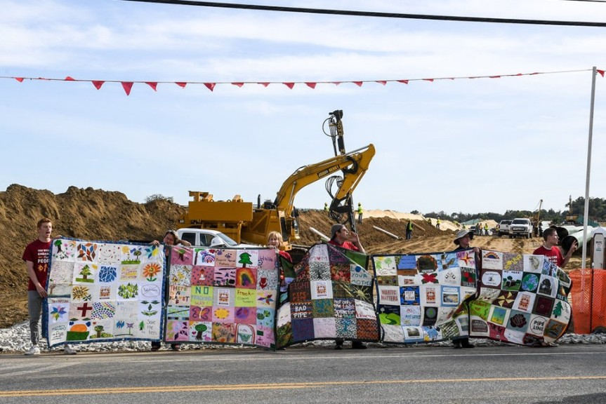 Being part of the Quilt 6, arrested for blocking pipeline construction