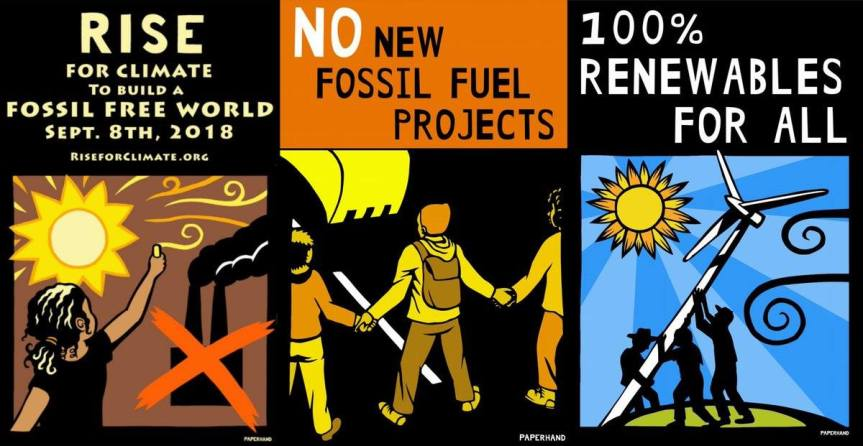 Step away from the screen – Rise forClimate!