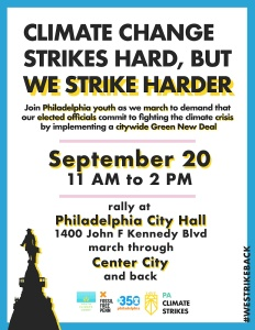 PA Climate Strike flyer